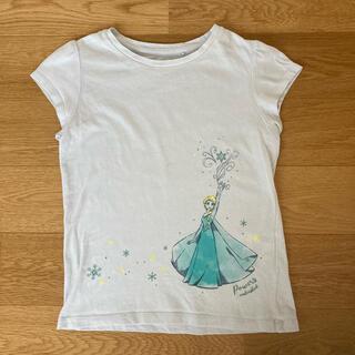 Disney - 【UNIQLO】アナと雪の女王 コラボTシャツ プリンセス 水色 UT  120