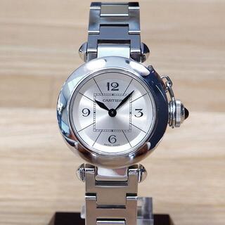 Cartier - 超美品 カルティエ 研磨済み ミスパシャ レディース 腕時計 SS シルバー