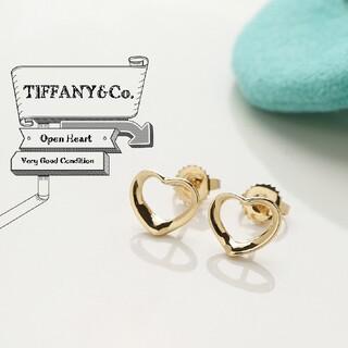 Tiffany & Co. - 新品仕上げ TIFFANY ティファニー オープンハート YG 750 ピアス