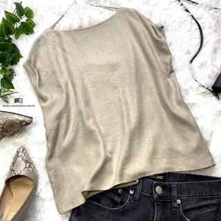 ガリャルダガランテ(GALLARDA GALANTE)の美品!ガリャルダガランテ リネンライクブラウス シャツ(シャツ/ブラウス(半袖/袖なし))