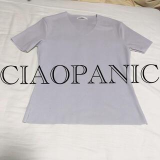 チャオパニック(Ciaopanic)のCIAOPANIC チャオパニック トップス ライトグレー(カットソー(半袖/袖なし))