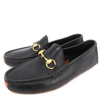 グッチ(Gucci)のグッチ GUCCI ドライビングシューズ ホースビット ローファー 25 黒(ローファー/革靴)