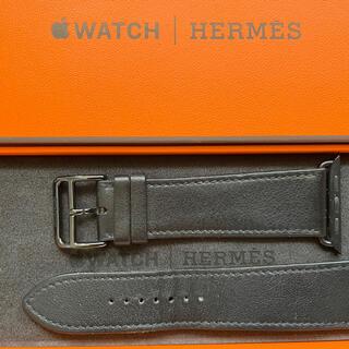 Hermes - Apple watch HERMES 黒レザーベルト42、44 ㍉