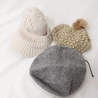 champion ニット帽/ベレー帽 レディース ベージュ/ブラウン/グレー