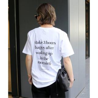 DEUXIEME CLASSE - Deuxieme Classe◆SKIN/スキン BACK PRINT Tシャツ