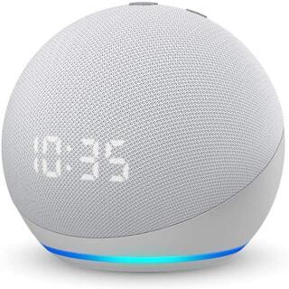 Echo Dot 第4世代 グレーシャーホワイト 時計付き