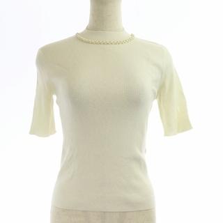 トッカ(TOCCA)のトッカ 18AW 洗える プリンセスニット セーター 五分袖 XS 白(ニット/セーター)
