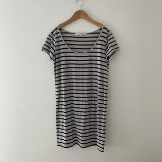 ブラックバイマウジー(BLACK by moussy)のブラックバイマウジー Tシャツ チュニック ボーダー(Tシャツ(半袖/袖なし))