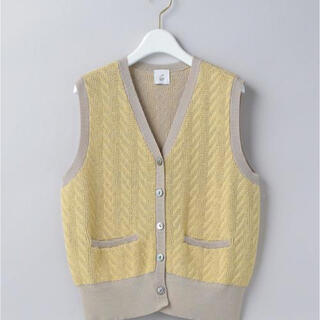 BEAUTY&YOUTH UNITED ARROWS - <6(ROKU)>CABLE KNIT VEST/ベスト