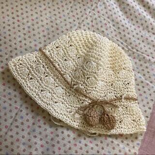 プティマイン(petit main)の【petit main】麦わら帽子 サイズ48 プティマイン(帽子)