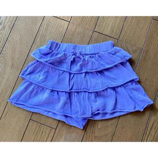 ユニクロ(UNIQLO)のユニクロ UNIQLO ベビー ショートパンツ キュロット スカート 紫(パンツ)