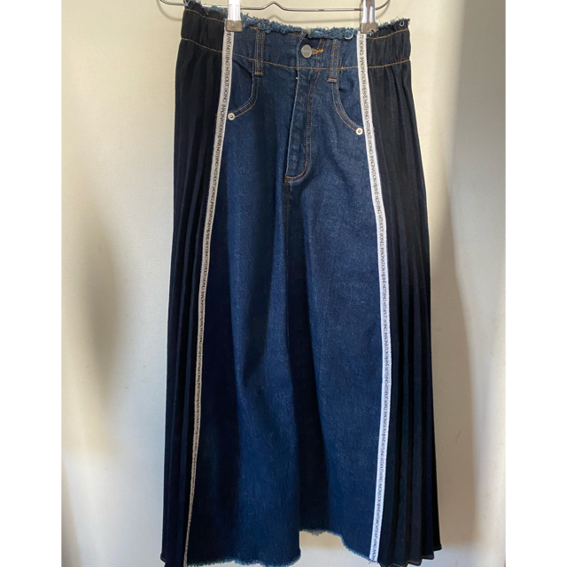 アメリヴィンテージ プリーツ デニムスカート レディースのスカート(ロングスカート)の商品写真