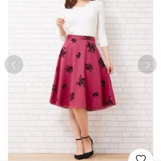 ファビュラスアンジェラ(Fabulous Angela)の[美人百花10月号掲載]オリジナルフラワーフロッキースカート(ひざ丈スカート)