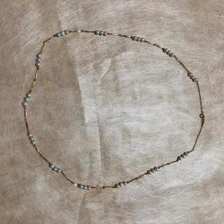 K18ネックレス 18金 真珠 ベビーパール コンビネックレス