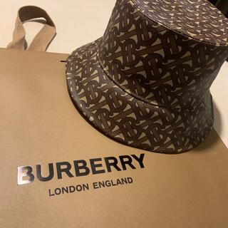 バーバリー(BURBERRY)のBURBERRY モノグラムロゴプリント バケットハット(ハット)