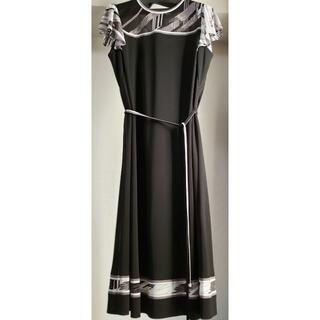 LEONARD - ☆タグ付き未使用品☆ レオナール 涼し気お袖ースルーワンピース Lサイズ 40