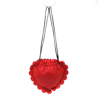 LUDLOW - ラドロー レザー スカラップ ストロベリー バッグ ショルダーバッグ 赤