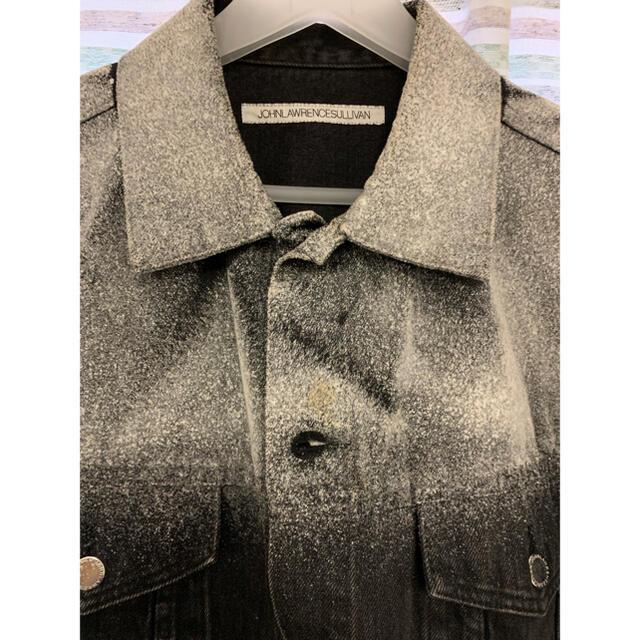JOHN LAWRENCE SULLIVAN(ジョンローレンスサリバン)のJOHN LAWRENCE SULLIVAN フロッキー デニムジャケット メンズのジャケット/アウター(Gジャン/デニムジャケット)の商品写真