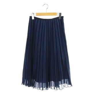 アナイ(ANAYI)のアナイ ANAYI プリーツスカート ロング ストライプ 38 青 ブルー(ロングスカート)