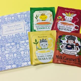 新品 カレルチャペック紅茶店 A6ノート & 紅茶 セット(茶)