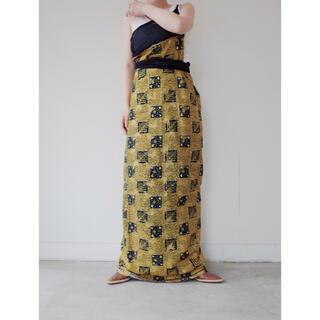 ビューティアンドユースユナイテッドアローズ(BEAUTY&YOUTH UNITED ARROWS)のused African batik Rolled skirt(ロングスカート)