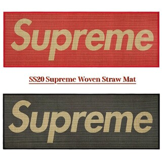 Supreme - Supreme Woven Straw Mat Red 井草 畳 マット red