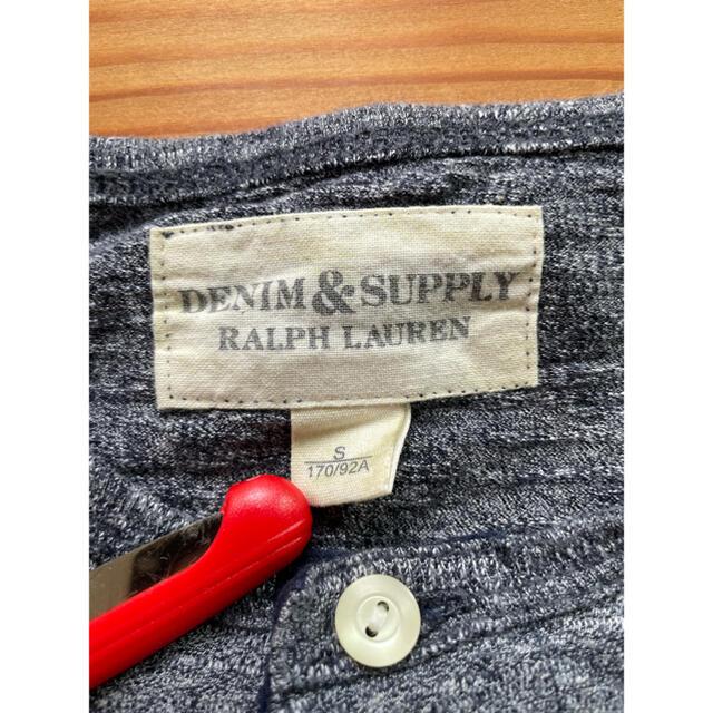 Denim & Supply Ralph Lauren(デニムアンドサプライラルフローレン)のデニム&サプライ ボーダー ヘンリーネック Tシャツ Sサイズ ラルフローレン メンズのトップス(Tシャツ/カットソー(半袖/袖なし))の商品写真