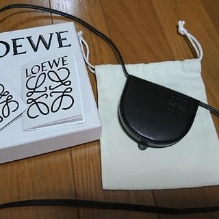 ロエベ(LOEWE)の未使用 ロエベ ヒールポーチ ミニショルダーバッグ ポシェット ブラック(ショルダーバッグ)