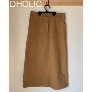 dholic - DHOLIC ディーホリック タイトスカート ブラウン 茶色