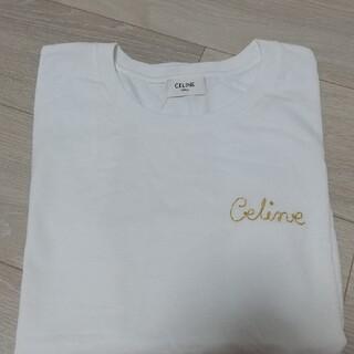 celine - CELINE エンブロイダリー Tシャツ / コットンオフホワイト