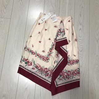 JILL by JILLSTUART - 新品未使用タグ付ジルスチュアート花柄スカート着丈60ウエスト平置33ゴムj