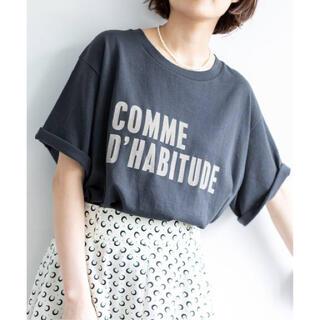IENA - IENA◆COMME DHABITUDE Tシャツ ネイビー イエナ