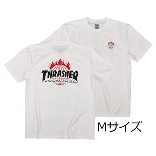 スラッシャー(THRASHER)のスラッシャーTシャツ 半袖T 白 M スケボー アウトドア ボード サーフィン(Tシャツ/カットソー(半袖/袖なし))