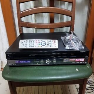 シャープ(SHARP)の希少ダビング可完動美品シャープVHS/HDD/DVDレコーダーDV-ARV22(DVDレコーダー)