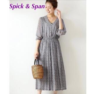 Spick and Span - Spick & Span  シフォンフラワープリントワンピース ◆ 36