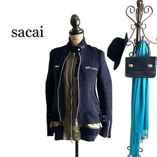 sacai - sacai サカイ ブルゾン ボンバージャケット レディース