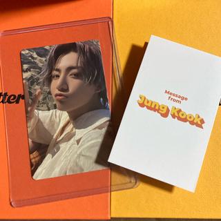 防弾少年団(BTS) - BTS  Butter   公式 グク ジョングク トレカ メッセージカード