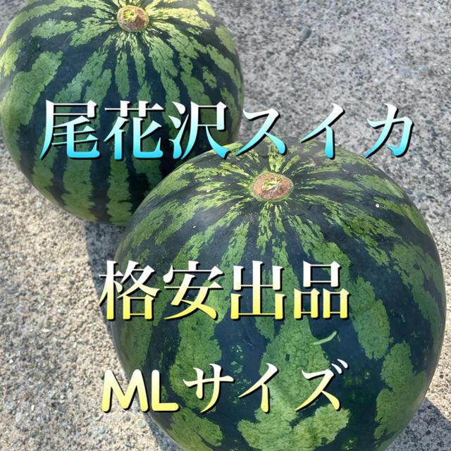 山形県 尾花沢スイカ 2つ玉 MLサイズ 食品/飲料/酒の食品(フルーツ)の商品写真
