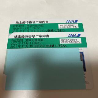 エーエヌエー(ゼンニッポンクウユ)(ANA(全日本空輸))の2021年11月30日迄有効 全日空株主優待券 2枚(航空券)