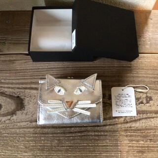 Casselini - 新品未使用 キャセリーニ  猫 財布 キャット ウォレット シルバー