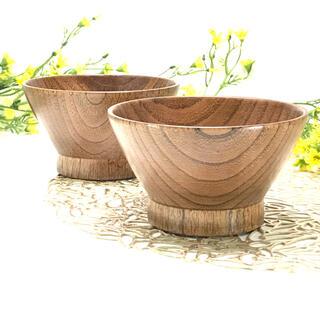完全数量限定 ☆木製・漆塗☆くらわんか型軽くて使いやすいスープボウル 2個
