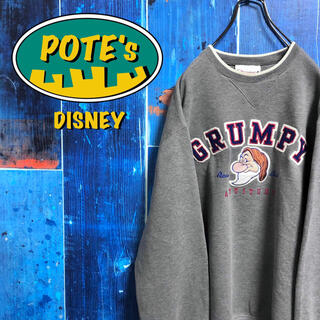 Disney - 【ディズニー】白雪姫7人の小人グランピーキャラ刺繍ビッグロゴスウェット