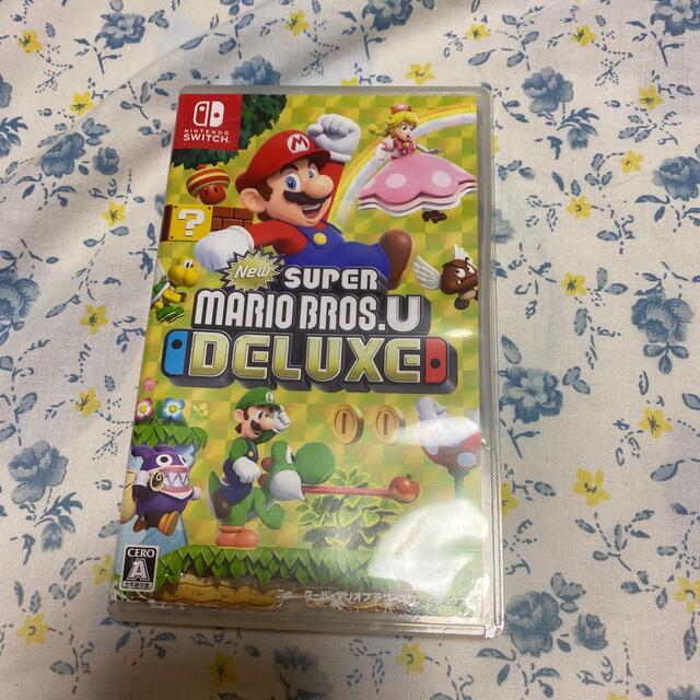 Nintendo Switch(ニンテンドースイッチ)のNew スーパーマリオブラザーズ U デラックス Switch エンタメ/ホビーのゲームソフト/ゲーム機本体(家庭用ゲームソフト)の商品写真