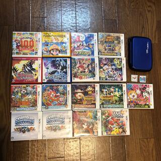 ニンテンドー3DS - 3DSのカセット19個セットと本体カバーケースのみ