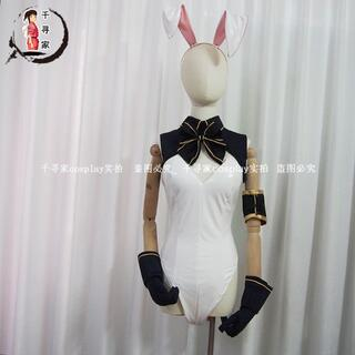 バーチャルYouTuber  バニーガール  白銀ノエル コスプレ衣装(衣装一式)