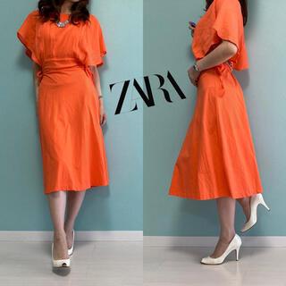 ZARA - ZARA*ワンピース❤️サイズS オレンジ