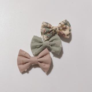 ボンポワン(Bonpoint)の773.夏のウキウキセット♡ハンドメイド、ヘアクリップ、リバティ生地使用(ファッション雑貨)