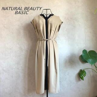 NATURAL BEAUTY BASIC - 【美品】 ナチュラルビューティーベーシック ワンピース
