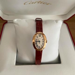 Cartier - 【美品】カルティエ ミニベニュワール ピンクゴールド レディース  腕時計