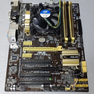 ASUS - i7 4770  H87-PROマザボ  メモリ16GB 電源